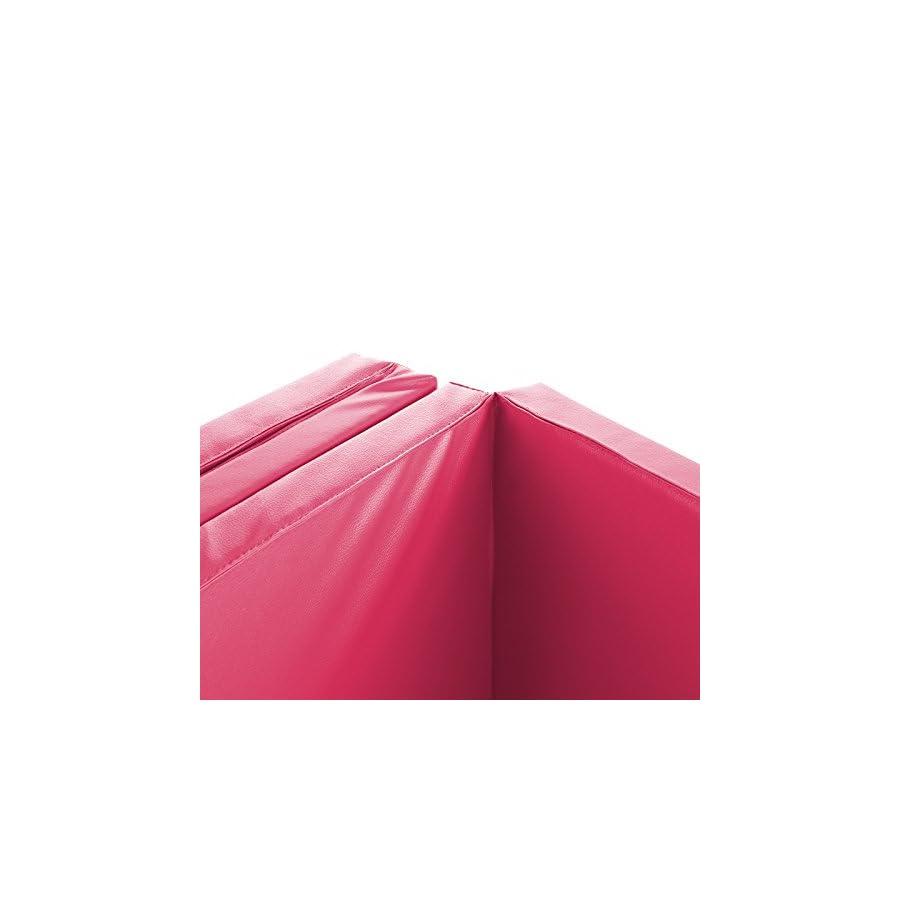 "Magshion Tumbling Gym Folding Exercise Mat Gymnastics Aerobics 4'x10'x2"" Pink"