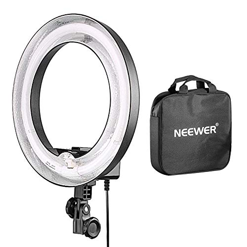 - Neewer Camera Photo Dimmable 14 inches/36 centimeters Outer 10 inches/25 centimeters Inner Continuous Lighting Ring Light for Portrait,Photography YouTube Vine Video Shooting,50W(400W Equivalent)5500K