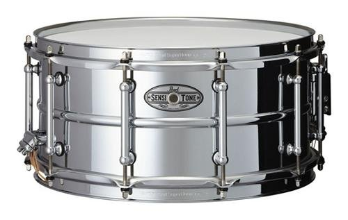 Pearl STA1465S 14 x 6.5 Inches Sensitone Snare Drum - Beaded (Stainless Steel Shell Snare Drum)