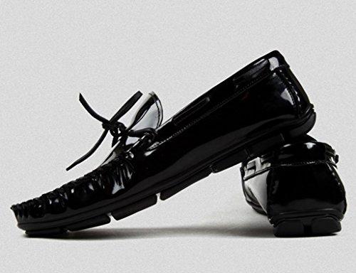 HWF Scarpe Uomo in Pelle Peas Shoes Scarpe da uomo in pelle per il tempo libero (Colore : Nero, dimensioni : EU38/UK5.5) Nero