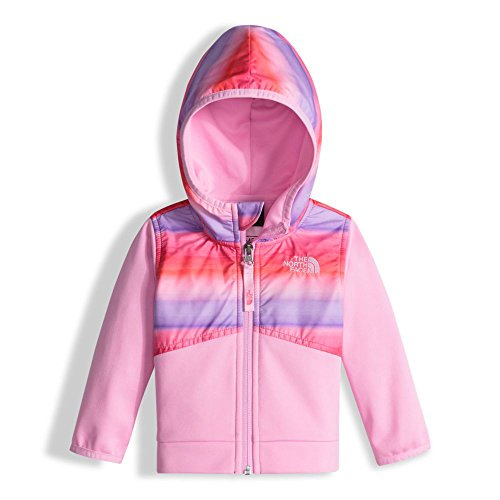 The North Face Infant Kickin It Hoodie Honeysuckle Pink Ombre Stripe Print 12 (Baby North Face Sweatshirt)