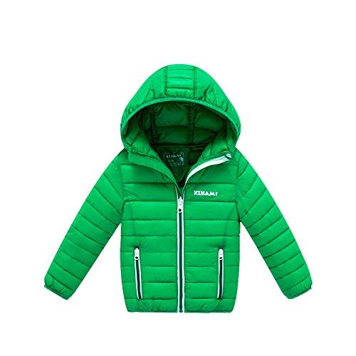 Newmarket Jacket (Children Jackets Boys Girls Down Coat Baby Coat Kids Outerwear Hooded Coat Children Green 3T)