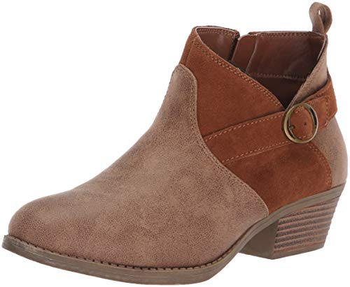 Skechers Women's Lasso-Clasp-Short Belted Bootie with Zipper Ankle Boot, Brown, 8.5 M ()