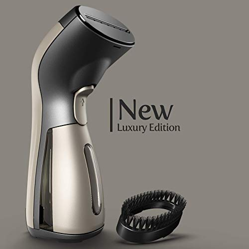 iSteam Luxury Edition Steamer [New Technology] 7-in-1 Powerful: Clothes Wrinkle Remover- Clean- Sterilize- Refresh- Treat- Defrost and More. for Garment/Home/Kitchen/Bathroom/Face/Travel [MS208 Gold]