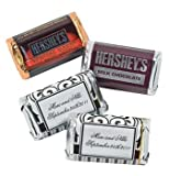 Personalized Black And White Wedding Stickers For Mini Candy Bars - Stickers & Labels & Candy