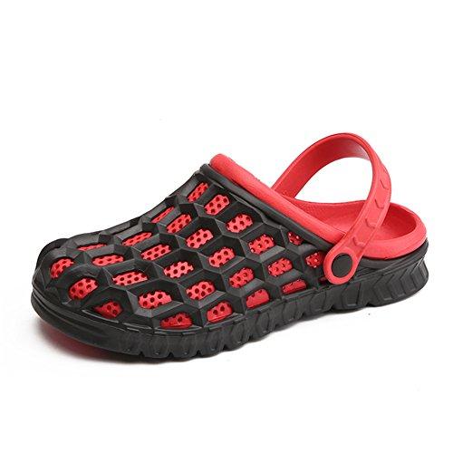 Kissavi Pantofole rot Donna Kasten Schwarz xc68g8H0qw
