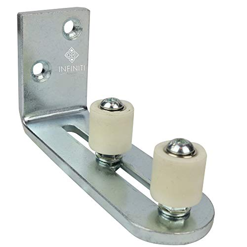 New Improved Design!!! Barn Door Floor Guide   Smooth AS Butter Bearings!!!   Stay Roller Sliding Adjustable by Infiniti Elementz   Unique Guide Flush with Floor   Durable Steel Frame -