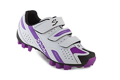 Spiuk Rocca MTB - Chaussures unisexes, couleur blanc / violet, taille 41