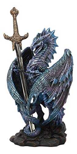 Ebros Nether Blade Ruth Thompson Dragon Statue with Dragon Letter Opener Blade 9.5