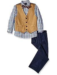 Nautica Boys 'mini-tartan Dress Set de cuatro piezas