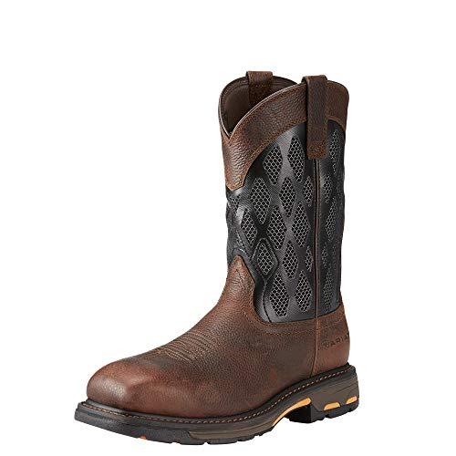 Brown Matrix - ARIAT Work Men's Workhog Venttek Matrix Construction Boot, Brown Ruddy/Charcoal, 12 D US