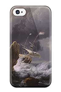 Anti-scratch And Shatterproof Ship Phone Case For Iphone 4/4s/ High Quality Tpu Case