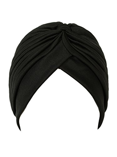- Choies Women Polyester Plain Black Turban Hat