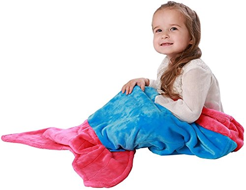[ENFY Toddler Mermaid Tail Blanket - Super Soft and Warm Minky Fabric Blanket Perfect Gift for Toddlers Ages 1-4 (Ocean Blue & Hot Pink)] (We Three Kings Costumes)