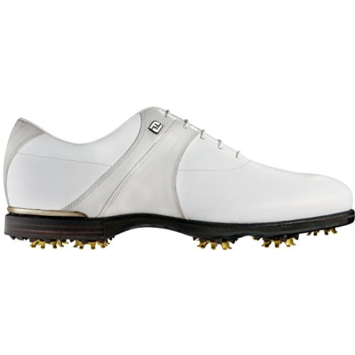 Mens FootJoy Icon Black Closeout Golf Shoes 52087 White/O...