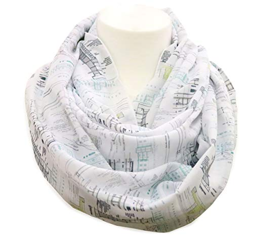 Architectural infinity Scarf Gift idea for architects construction interior designer architectural birthday gift for her ()
