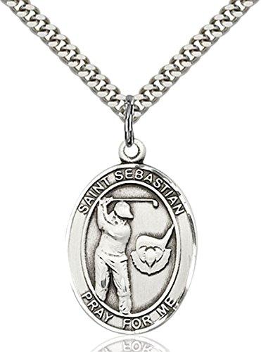 bliss Sterling Silver Saint Sebastian Golf Medal Pendant, 1 ()