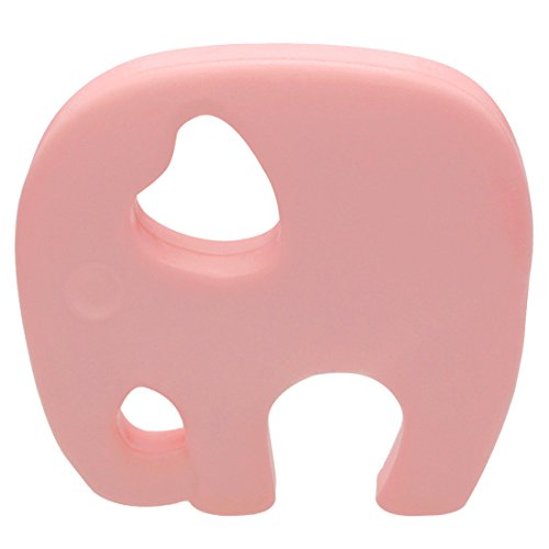 ailams-elephant-baby-teether-ringfood-grade-silicone-bpa-free-fda-approvedtoddlers-teething-toy-pink