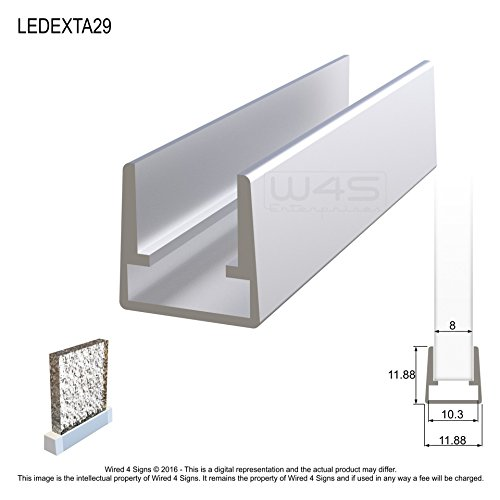 Edge-Lit LED Strip Channel - Model A29 [Profile Only] - Edge Lit Acrylic