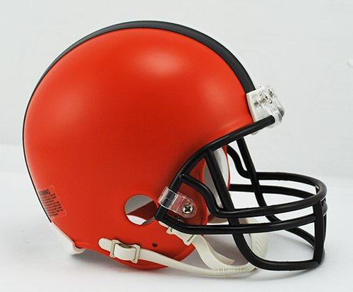 NFL Cleveland Browns Replica Mini Helmet, Medium, (Brown Mini Helmet Face Mask)