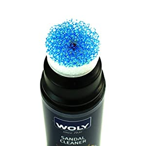 Woly Sandal Cleaner. Removes Dirt, Foot Marks, & Sticky Residue From Sandals. For All Types of Textiles.