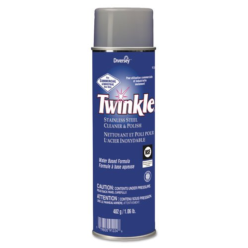 Twinkle Stainless Steel Cleaner & Polish, 17 oz. Aerosol