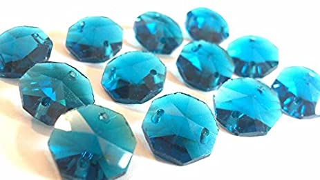 Amazoncom Chandelier Crystals Mm Zircon Blue Octagon Prism Beads - Chandelier crystals blue