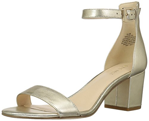 Platino Leather Footwear - Nine West Women's Fields Metallic, Platino, 10.5 M US