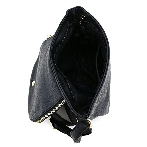 Tassel Black with Accent Top Bag Crossbody Flap w6gOqpw