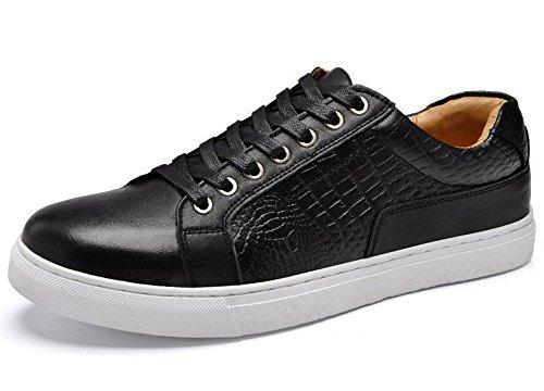 Männer Lace-Up Flats Oxford Business Casual Schuhe Erste Schicht von Leder Gürtel Männer Schuhe Korean Fashion Trend Sommer Breathable Schuhe , black , 42
