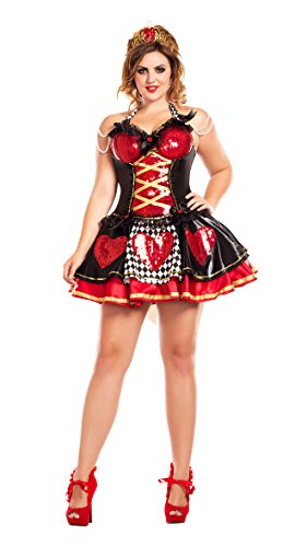 Off with their Heads Queen of Hearts Plus Size Adult Costume - Plus Size 2X