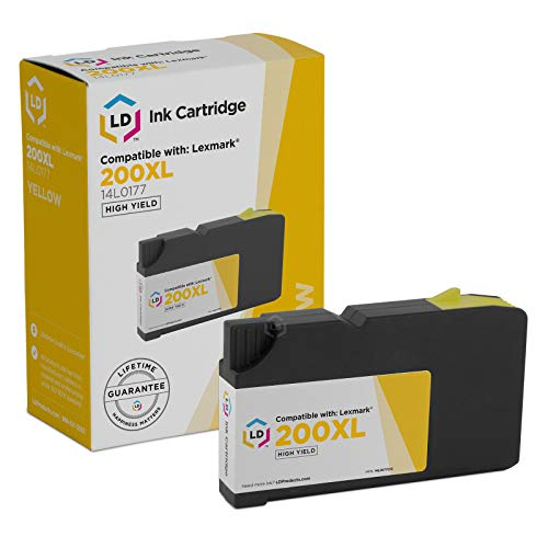 - LD Compatible Ink Cartridge Replacement for Lexmark 200XL 14L0177 High Yield (Yellow)