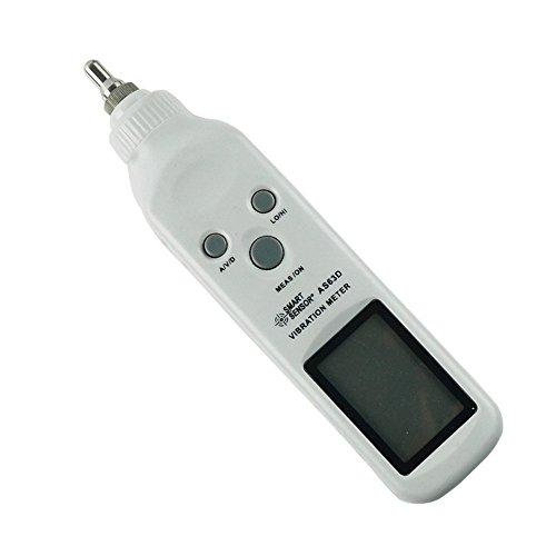 SMART SENSOR AS63D Digital Precision Vibration Meter Tester Vibrometer Gauge Analyzer, Measure Acceleration, Velocity, Displacement