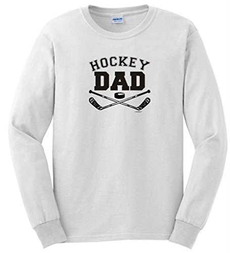 Hockey Dad Long Sleeve T-Shirt 4XL White