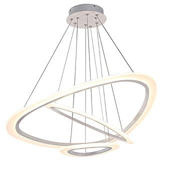 2138 3 Ringe WJ TonHan LED Pendelleuchte Mit Fernbedienung Lichtfarbe Und  Helligkeit Einstellbar Acryl