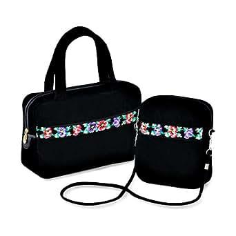 Feiler Aida Chenille Handbags Set for Women - Black