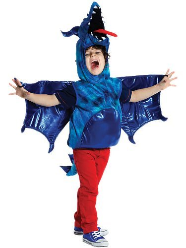 Creative Education Great Pretenders Fire-Breathing DRAGON Size Small Dress Up Play - Blue Breathing Dragon Fire