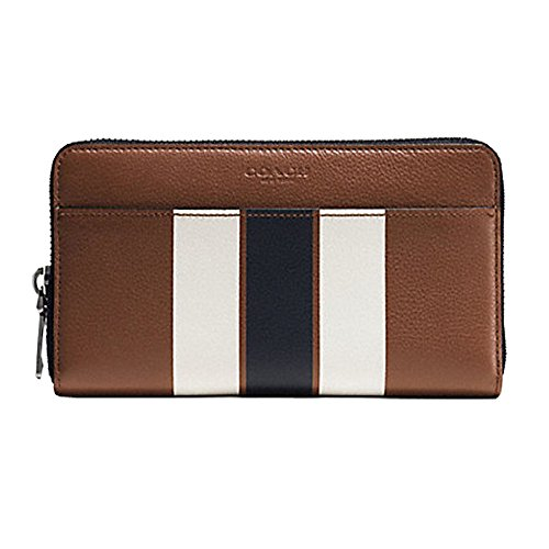 Coach ACCORDION WALLET IN VARSITY LEATHER ( DARK SADDLE) by Coach
