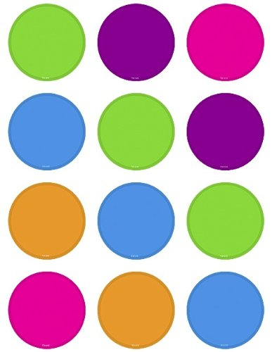Teacher Created Resources Bright Colors Circles Mini Accents ()
