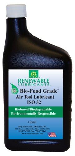 Renewable Lubricants Bio-Food Grade ISO 32 Air Tool Lubricant, 1 Quart (Renewable Lubricants Bio Food)