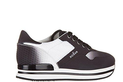 Hogan chaussures baskets sneakers femme h222 tomaia costruita noir