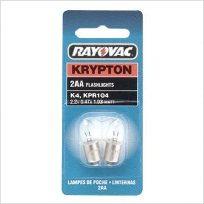Rayovac 2 Aa Krypton Bulbs Carded (620-K4-2) Category: Flashlight Bulbs