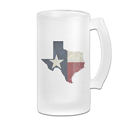 SIENAHE State Of Texas Beer Glass Mug Set -