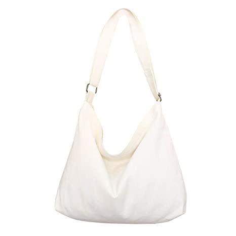 f0fb17182 Amazon.com: Fanspack Women's Canvas Hobo Handbags Simple Casual Top Handle  Tote Bag Crossbody Shoulder Bag Shopping Work Bag: Fanspack Direct