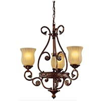Hampton Bay 3-Light Hanging Antique Chandelier
