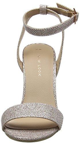 Correa con para Tobillo Shika y Gold Rose 2 New de Tacon Look Mujer 94 Oro Zapatos BqCxwWvAU0