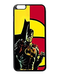 """Batman And Robin Mashup - Custom Image Case iphone 6 -5.5 inches case , Diy Durable Hard Case Cover for iPhone 6 Plus (5.5"""") , High Quality Plastic Case By Argelis-Sky, Black Case New"""