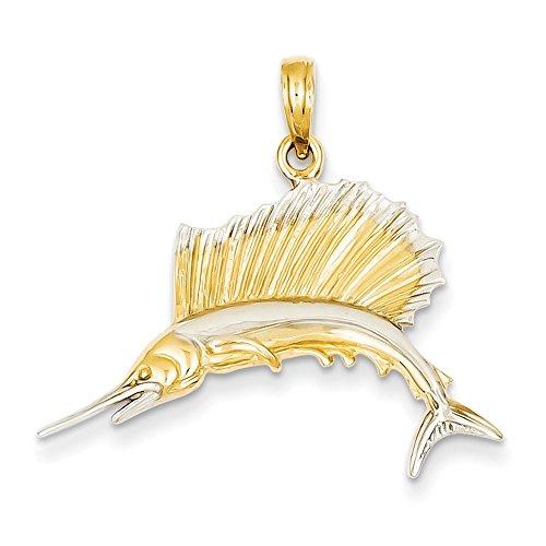 Gold & Rhodium Sailfish Pendant-Prime ()