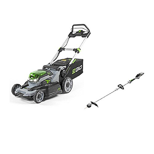 EGO 20 in. 56-Volt Lithium-ion Mower kit with 4.0Ah Battery and Charger + 15 in. Bare Tool String Trimmer Included by EGO Power+