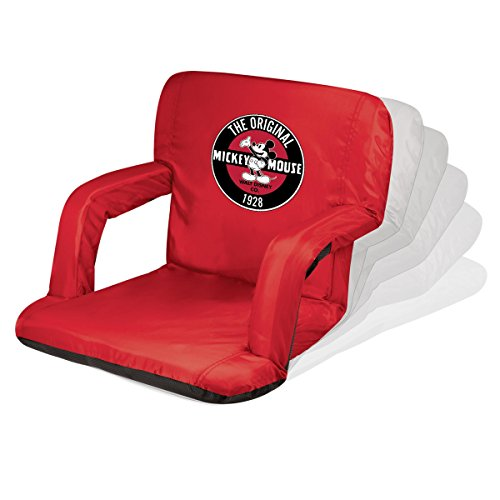 ONIVA - a Picnic Time brand Disney Classics Mickey Mouse Ventura Portable Reclining Stadium Seat, Red by ONIVA - a Picnic Time brand
